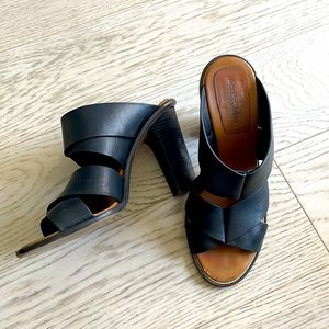 🎉 See By Chloe Black Leather Heeled Sandals